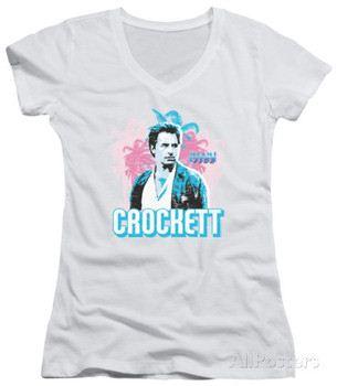 Juniors: Miami Vice - Crockett V-Neck