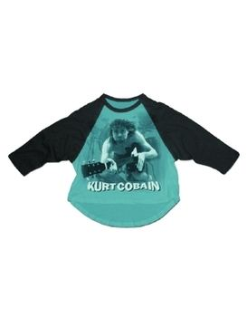 Nirvana Kurt Cobain Water Guitar Photo Men's Raglan T-Shirt