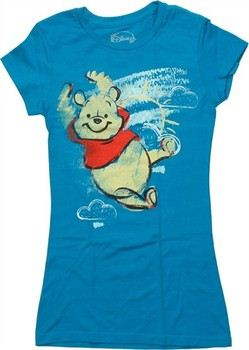 Disney Winnie the Pooh Bear Chalk Sky Baby Doll Tee