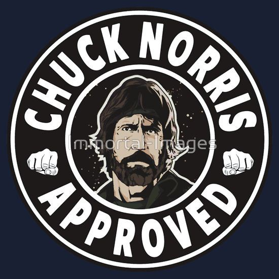 Chuck Norris Approved by Immortal-Images T-Shirt