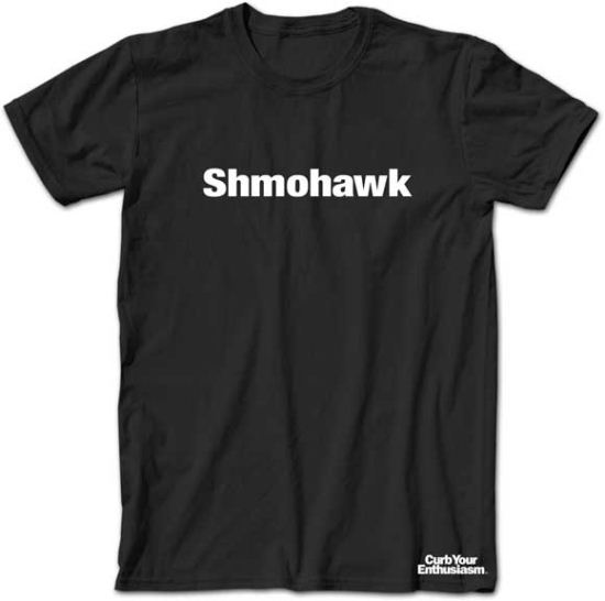 Curb Your Enthusiasm T-shirt Shmohawk Adult Black Tee