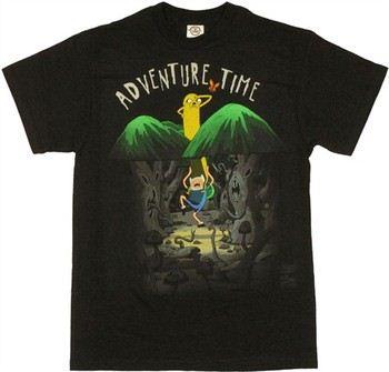 Adventure Time Jake Finn in Spooky Forest T-Shirt