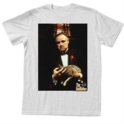 The Godfather Shirt Cat Leone Adult White Tee T-Shirt