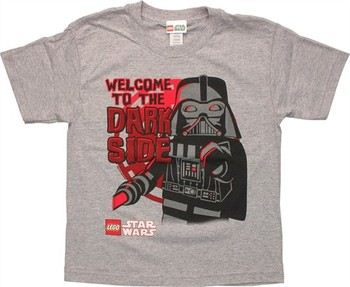 Star Wars Lego Darth Vader Welcome to the Darkside Youth T-Shirt