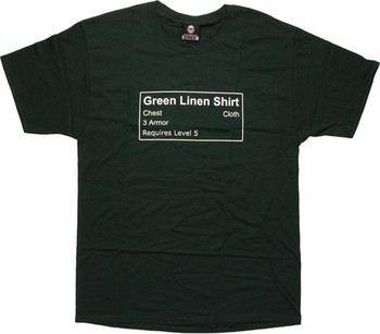 World of Warcraft Green Linen Shirt by Blizzard T-Shirt