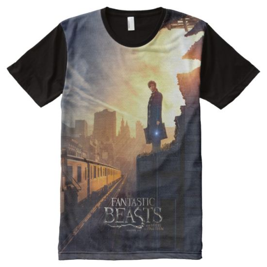 Newt Scamander in Destroyed Building All-Over Print T-shirt
