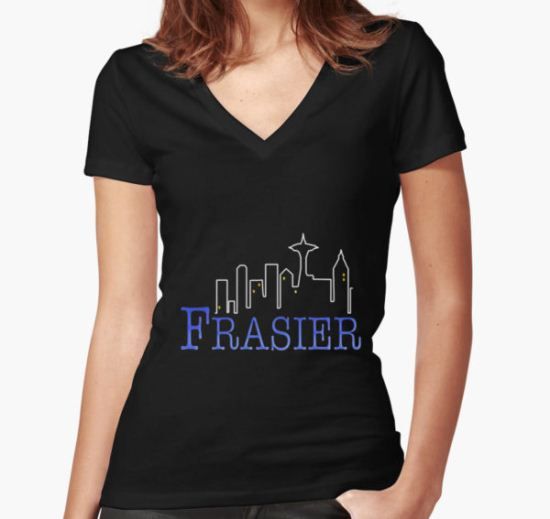 FRASIER Women's Fitted V-Neck T-Shirt by weluvkampunk T-Shirt