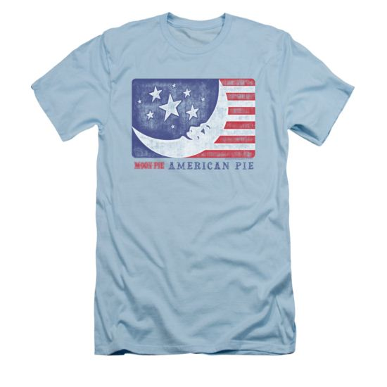 Moon Pie Shirt Slim Fit American Pie Light Blue T-Shirt