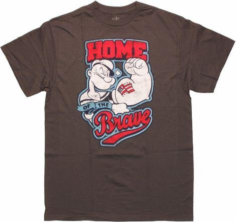 Popeye Home Brave Tat T Shirt