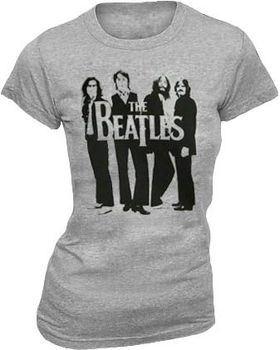 The Beatles Perfect Vector Heather Gray Juniors T-shirt