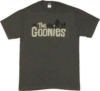 Goonies Silhouette Gray T-Shirt