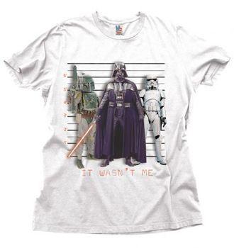 Junk Food Star Wars Darth Vader It Wasn't Me Adult White T-Shirt