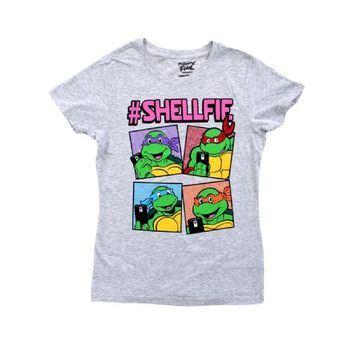 TMNT Teenage Mutant Ninja Turtles Boxes Shellfie Juniors T-Shirt