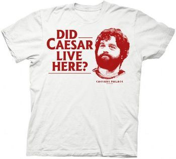 Hangover Did Caesar Live Here Alan White Mens T-shirt