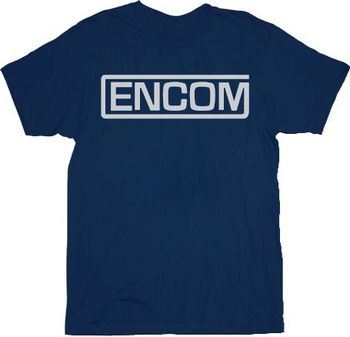 Tron Encom Logo Navy Adult T-shirt