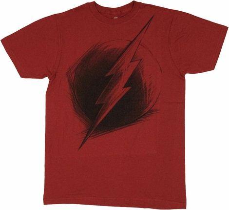 Flash Logo Sketch T Shirt Sheer