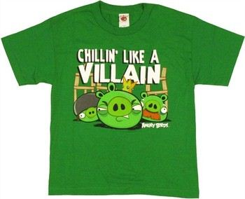 Angry Birds Chillin Like a Villain Youth T-Shirt
