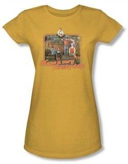 The Brady Bunch TV Have a Brady Day Juniors Gold T-Shirt