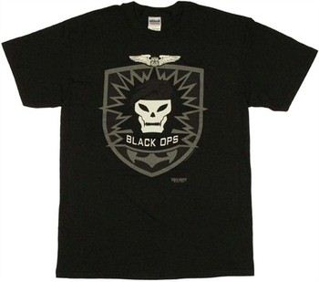 Call of Duty Black Ops Skull Icon T-Shirt