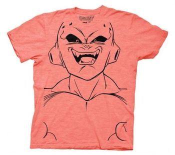 Dragonball Z Buu Large Face Adult Peach T-shirt