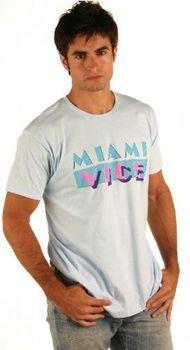 Miami Vice Light Blue Logo T-shirt