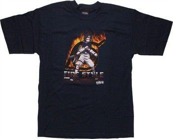 Naruto Sasuke Fire Style Portrait T-Shirt