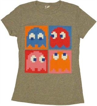 Pac-Man Boxed Ghosts Baby Doll Tee