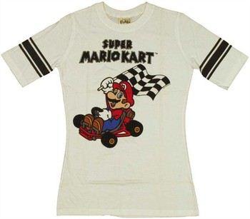 Nintendo Super Mario Kart Hockey Jersey Baby Doll Tee