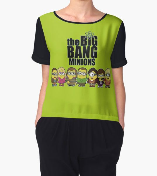 BIG BANG MINIONS Women's Chiffon Top by DAWET T-Shirt