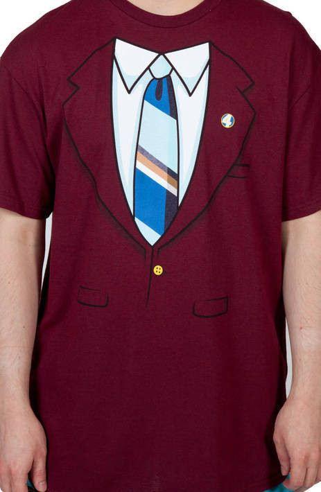 Ron Burgundy Jacket Anchorman Costume T-Shirt
