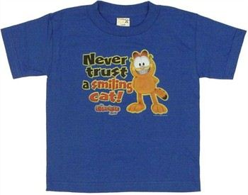 Garfield Show Never Trust a Smiling Cat Juvenile T-Shirt