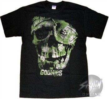 Goonies Camo Skull T-Shirt