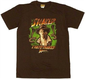 Raiders of the Lost Ark Indiana Jones I Hate Snakes T-Shirt Sheer