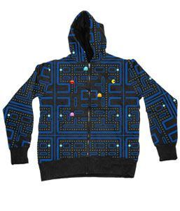 Pac-Man Engineer Black Hooded Sweatshirt Hoodie