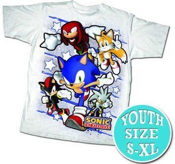 759c55dd ... Sonic the Hedgehog Team Sonic Grid White T-shirt