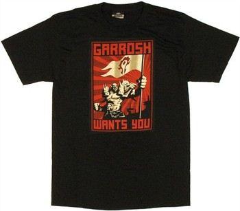 World of Warcraft Garrosh Hellscream Wants You T-Shirt