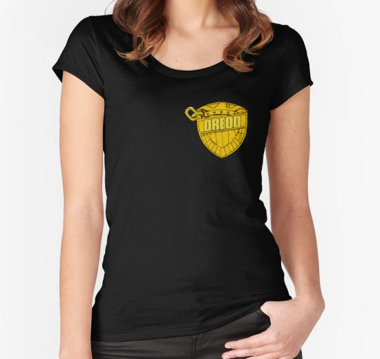 DREDD Women's Fitted Scoop T-Shirt by dtkindling T-Shirt