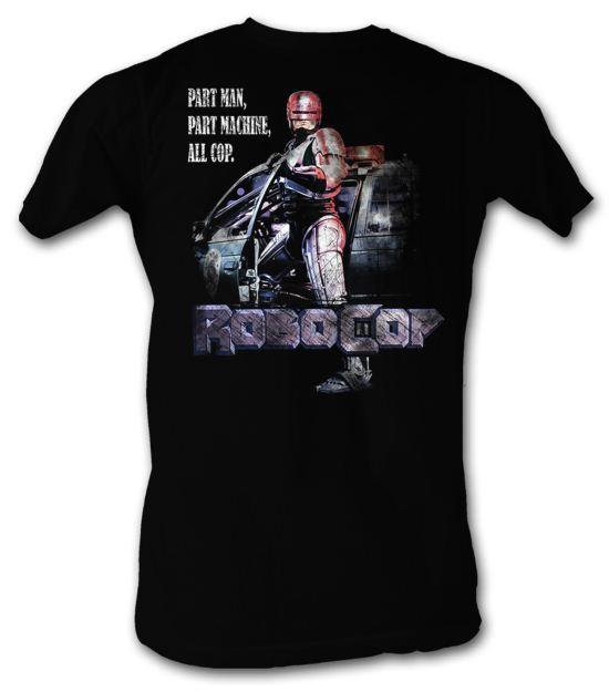 Robocop T-Shirt Movie All Cop Adult Black Tee Shirt
