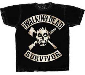 SCATTERED WALKER NAMES Adult Men T-Shirt Black Walking Dead