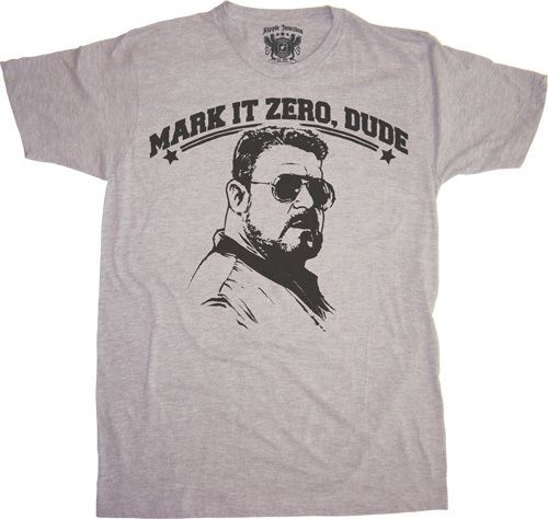 The Big Lebowski Mark It Zero, Dude T-shirt