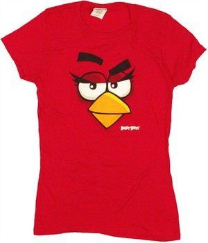 Angry Birds Bird Face Raised Eyebrow Baby Doll Tee