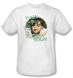 Animal House T-Shirt Movie Bluto Toga Adult White Tee Shirt