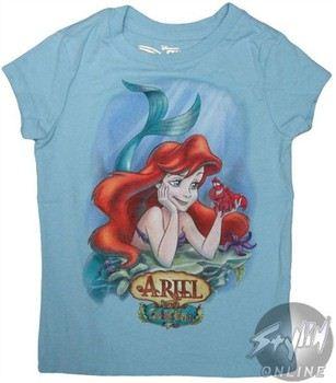 a5c1daf18 ... Disney Little Mermaid Ariel and Sebastian Girls Youth T-Shirt