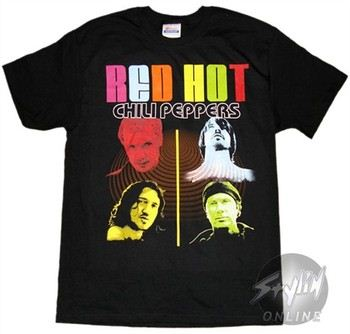 Red Hot Chili Peppers Swirl Music T-Shirt