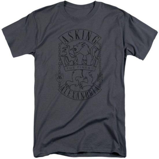 Asking Alexandria Shirt The Finest Charcoal Tall T-Shirt