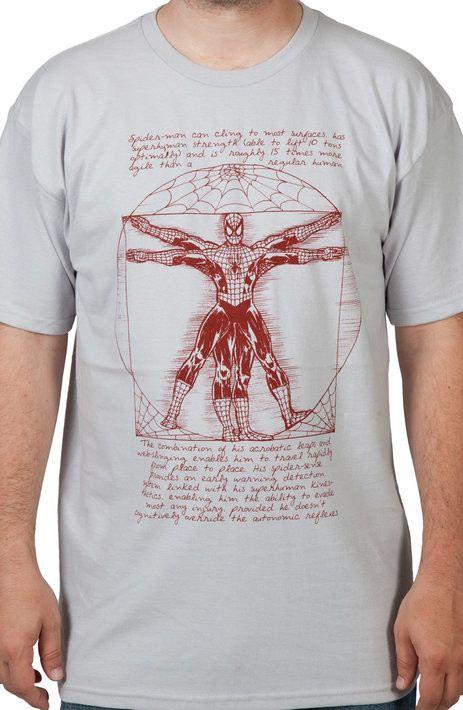 Vitruvian Spiderman Shirt