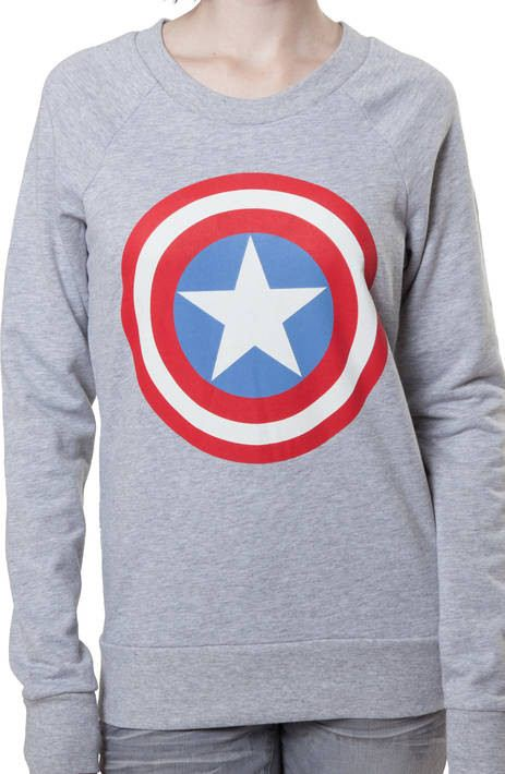 Ladies Captain America Sweatshirt
