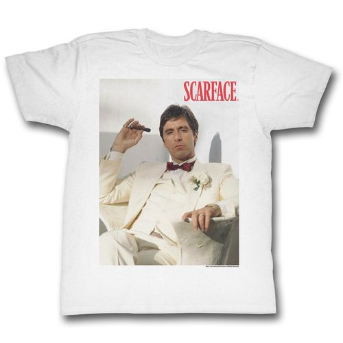 Scarface Chillin Adult White T-Shirt