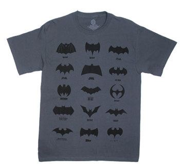 Batman Logos Explained - DC Comics T-shirt