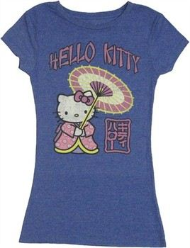 f109300bb2341 ... Hello Kitty Japanese Umbrella Kimono Jack of All Trades Baby Doll Tee. ""